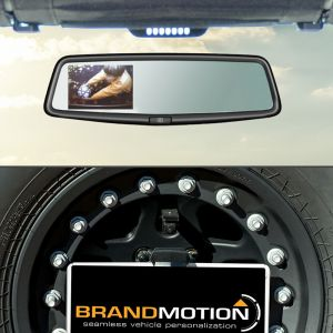 Brand Motion Adjustable Rear Vision System with OEM Mirror Display For 2007-18 Jeep Wrangler JK 2 Door & Unlimited 4 Door