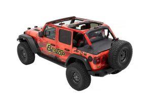 BESTOP Duster Deck Cover (Black Diamond) For 2018+ Jeep Wrangler JL 2 Door 90035-35
