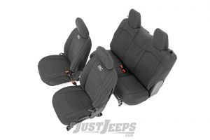 Rough Country Front and Rear Neoprene Seat Covers For 2018+ Jeep Wrangler JL 2 Door Models 91020