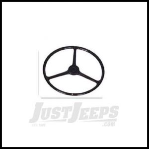 Omix-ADA Steering Wheel Black With Small Horn For 1945-64 Jeep CJ Series 18031.01