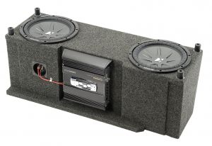"""Quadratec Custom Rear Dual Subwoofer Kit with 10"""" Kicker CompVR Subwoofers for 87-06 Jeep Wrangler YJ & TJ 14136.361"""