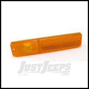 Omix-ADA Side Marker Light Lens Amber Driver or Passenger Side For 1976-86 Jeep CJ5 CJ7 CJ8 Scrambler 12401.01