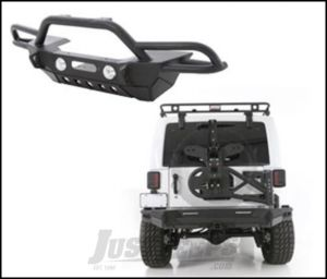 SmittyBilt SRC Gen2 Front Bumper Package with Tire Carrier in Black For 2007-18 Jeep Wrangler JK 2 Door & Unlimited 4 Door Models BMPRPKG2.2