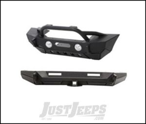 SmittyBilt XRC Gen2 Front Bumper with Rear Bumper Package in Black For 2007-18 Jeep Wrangler JK 2 Door & Unlimited 4 Door Models XRCJK6.1