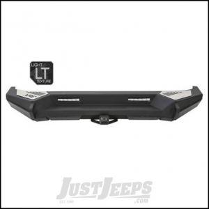 SmittyBilt XRC Gen2 Rear Bumper Finish in Light Texture Black For 2007-18 Jeep Wrangler JK 2 Door & Unlimited 4 Door Models 76858LT
