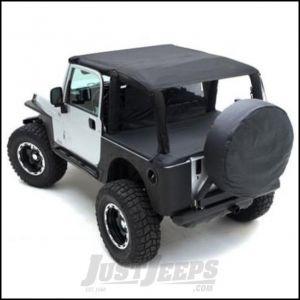 SmittyBilt Summer Top Bundle With Extended Brief Top in Black Denim For 1997-06 Jeep Wrangler TJ Models SEALTJ970615