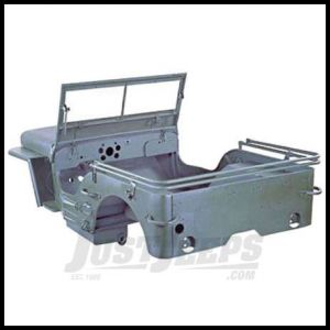 Omix-ADA Body Tub Kit Steel For 1944-45 Willys MB Includes body tub, hood, 2 fenders and windshield frame 12001.02