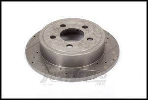 Alloy USA Front Cross Drilled & Slotted Performance Brake Rotors For 2000-06 Jeep Wrangler TJ Models & Cherokee XJ 11351