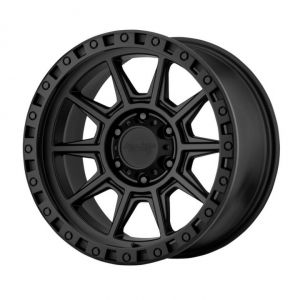 American Racing AR202 Matte Black 17x9 Wheel 5x5 W/4.50 BS AR20279050712N