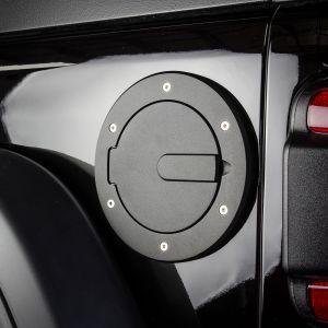 AMI Race Style Billet Fuel Doors (Flat Black) For 2018+ Jeep Wrangler JL 2 Door & Unlimited 4 Door Models 6034K
