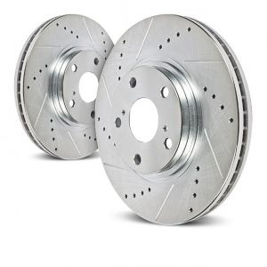 Power Stop Rear Drilled And Slotted Brake Rotor For 2007-18 Jeep Wrangler JK 2 Door & Unlimited 4 Door AR8382XPR