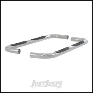 "Aries Automotive 3"" Round Side Bars In Polished Stainless Steel For 1999-04 Jeep Grand Cherokee WJ 201001-2"