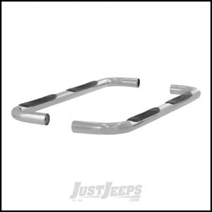 "Aries Automotive 3"" Round Side Bars In Polished Stainless Steel For 2005-10 Jeep Grand Cherokee WK 201003-2"