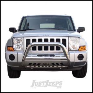 """Aries Automotive 3"""" Bull Bar In Polished Stainless Steel For 2005-07 Jeep Grand Cherokee WK & 2006-10 Commander XK Models 35-1001"""