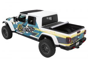 BESTOP EZ-Roll Soft Tonneau Cover (Black Twill) For 2020+ Jeep Gladiator JT 4 Door Models 19280-17