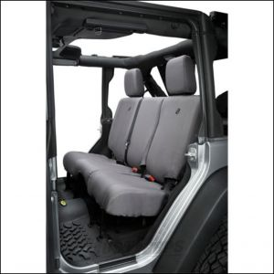 BESTOP Custom Tailored Rear Seat Covers In Charcoal For 2013-18 Jeep Wrangler JK Unlimited 4 Door Models 29284-09