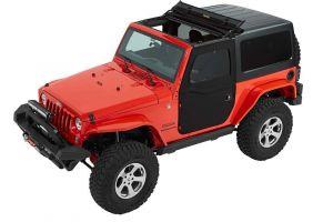 Bestop Front Two-Piece Soft Doors (Black Twill) For 2007-18 Jeep Wrangler JK 2 Door & Unlimited 4 Door Models 51798-17