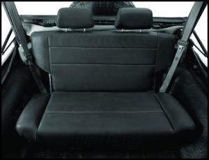 BESTOP TrailMax II Fold & Tumble Rear Bench Seat In Black Crush For 1955-95 Jeep Wrangler YJ & CJ Series 39440-01