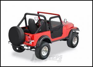 BESTOP 2-Piece Soft Doors In Black Crush For 1976-86 Jeep CJ7 & CJ8 Uses Included BESTOP Door Strickers 51778-01