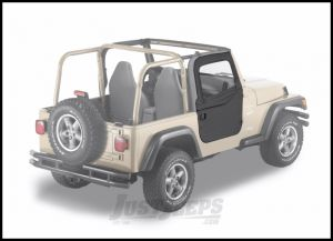 BESTOP 2-Piece Soft Doors In Black Diamond For 1997-06 Jeep Wrangler TJ & TLJ Unlimited Models For Use With Factory Door Strickers 51789-35