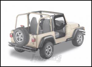 BESTOP Soft Upper Doors With Frames In Black Diamond For 1997-06 Jeep Wrangler TJ & TLJ Unlimited Models With Factory Half Doors 51790-35