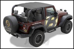 BESTOP Header Bikini Safari Version In Black Diamond For 2010-18 Jeep Wrangler JK 2 Door 52583-35