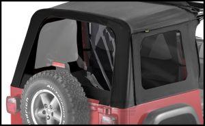 BESTOP Tinted Window Kit For BESTOP Sunrider Soft Top In Black Denim For 1997-06 Jeep Wrangler TJ 58699-15