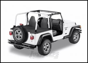 BESTOP Duster Deck Cover With Factory Soft Top Bow Folded Down In Black Diamond For 2003-06 Jeep Wrangler TJ 90012-35