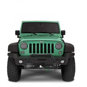 "Black Horse Offroad 3"" Bull Bar Skid Plate for 18+ Jeep Wrangler JL & 20+ Gladiator JT BBJPW-"