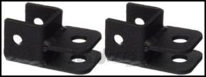 Body Armor 4X4 Vertical Towbar Adapter Brackets In Black Powder Coat For Universal Applications