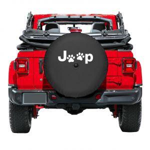 Boomerang Enterprises Jeep Paw Print Logo Tire Cover for 18+ Jeep Wrangler JL, JLU TC-JPAWS-