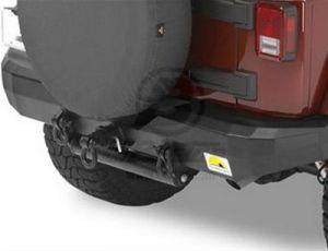 "BESTOP HighRock 4X4 Rear Bumper With Class 2.5 Hitch and 3/4"" D-Ring Mount For 2007-18 Jeep Wrangler JK 2 Door & Unlimited 4 Door Models 42911-01"