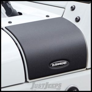 Bushwacker Cowl Covers In Matte Black For 2007-18 Jeep Wrangler JK 2 Door & Unlimited 4 Door Models