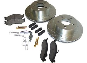 Crown Front Performance Brake Kit (Front Drilled & Slotted) For 1990-1999 Jeep Wrangler TJ, YJ, Cherokee XJ & Comanche MJ RT31013