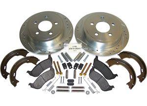 Crown Performance Brake Kit (Rear Drilled & Slotted) For 2003-2007 Jeep Wrangler TJ & Liberty KJ RT31014