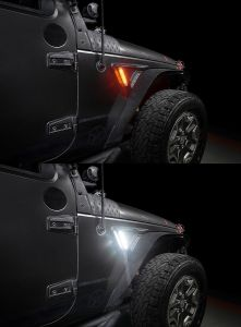 Oracle Lighting Sidetrack Fender LED Lighting System for 07-18 Jeep Wrangler JK, JKU 5873-504