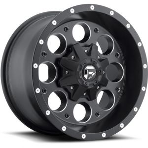 Fuel Off-Road D525 Revolver Wheel in Black with Machined Accents 17x9 with 5.0in Backspace D52517902645