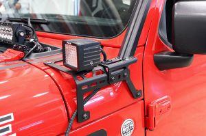 Dee Zee Cowl Accessory Brackets for 18-20+ Jeep Wrangler JL, JLU & Gladiator JT
