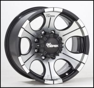 Dick Cepek DC-2 Wheel 15x8 With 5 On 4.50 Bolt Pattern In Gloss Black & Machined Finish 90000000481