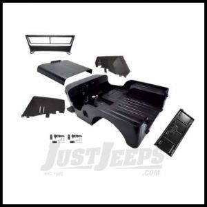 Omix-ADA Body Tub Kit Steel Licensed Willys Stamped For 1946-49 Jeep Willys CJ2A  Includes body tub, hood, 2 fenders and windshield frame DMC-673859-2A