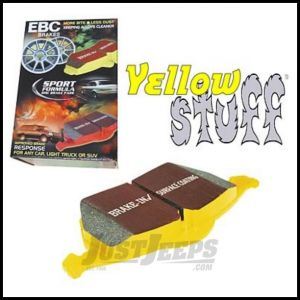 EBC Brakes Front Yellowstuff 4000 Series KEVLAR? Brake Pads For 1990-06 Jeep Wrangler YJ, TJ Models, Cherokee XJ & Grand Cherokee DP41022R