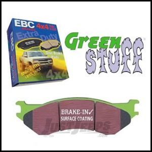 EBC Brakes Front Greenstuff 7000 Series Supreme HD Organic Brake Pads For 1997-06 Jeep Wrangler TJ Models, Cherokee XJ & Grand Cherokee ZJ DP71255