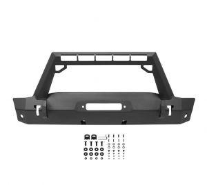 Westin Stubby Front Bumper w/LED Light Bar Mount For 2018+ Jeep Gladiator JT & Wrangler JL 2 Door & Unlimited 4 Door Models  59-80085
