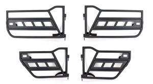 Fishbone Offroad Front and Rear Tube Doors For 2007-18 Jeep Wrangler JK Unlimited 4 Door Models FB24022