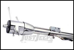 """Flaming River Floor Shift Tilt Steering Column With GM Ignition Key Polished Stainless Steel 30"""" For 1972-86 Jeep CJ Series FR30001-30SS"""