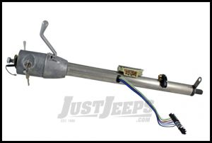 """Flaming River Column Shift Tilt Steering Column With GM Ignition Key Paintable Mill Finish 33"""" For 1972-86 Jeep CJ Series FR30101"""