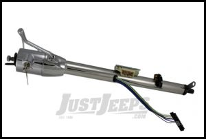 """Flaming River Column Shift Tilt Steering Column With GM Ignition Key Polished Stainless Steel 33"""" For 1972-86 Jeep CJ Series FR30101SS"""