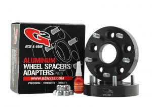 "G2 Axle & Gear Billet Aluminum 1.5"" Wheel Spacers Black Anodized In 5"" X 5"" Bolt Pattern For 2007-18 Jeep Wrangler JK 2 Door & Unlimited 4 Door Models 93-73-150"