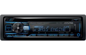 Alpine Single DIN Bluetooth In-Dash CD/AM/FM Car Stereo Receiver With Near Field Communication CDE-175BT