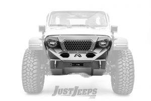 Fab Fours Stubby Front Grumper For 2018+ Jeep Gladiator JT & Wrangler JL 2 Door & Unlimited 4 Door Models GR4650-1